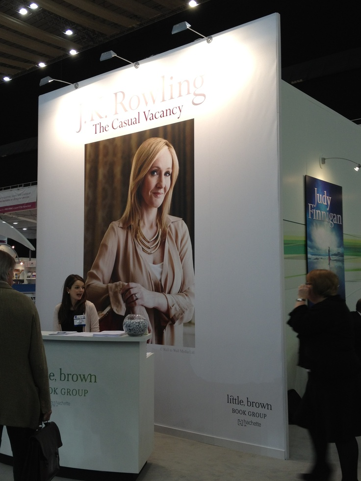 J.K. Rowling's new novel is called 'The Casual Vacancy' and is coming out in September 2012. Here she is in full display at the London Book Fair.
