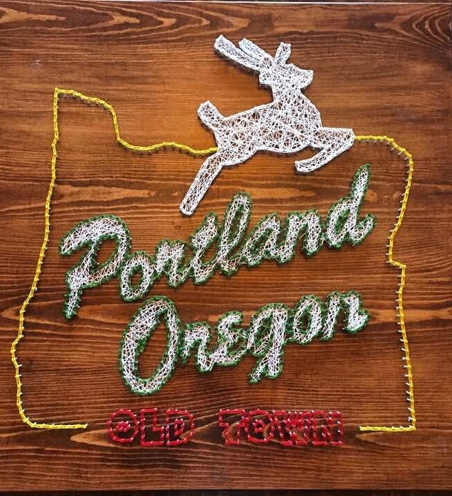 Portland Oregon String Art Craft String Art String Art Templates String Art Patterns