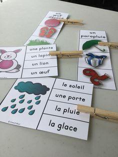 2 jeux d'association pour pratiquer le vocabulaire du printemps. Plus