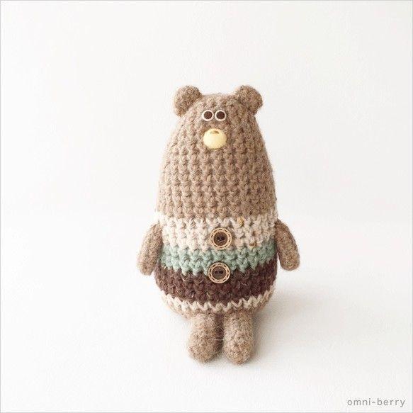 かぎ針編みのくまのアイデア♡おとぼけ顔がたまらなく可愛いくまちゃん❤︎