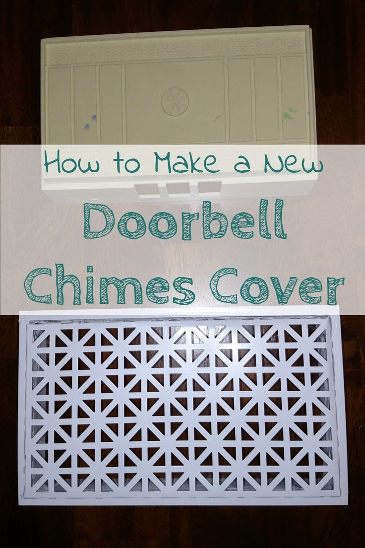 Doorbell chimes can be such an eye sore, especially outdated ones, Make a new cover!