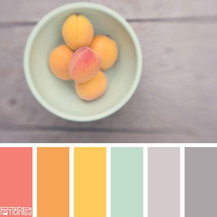 #Farbberatung #Stilberatung #Farbenreich mit www.farben-reich.com Sweet Apricot #color #colorpalettes