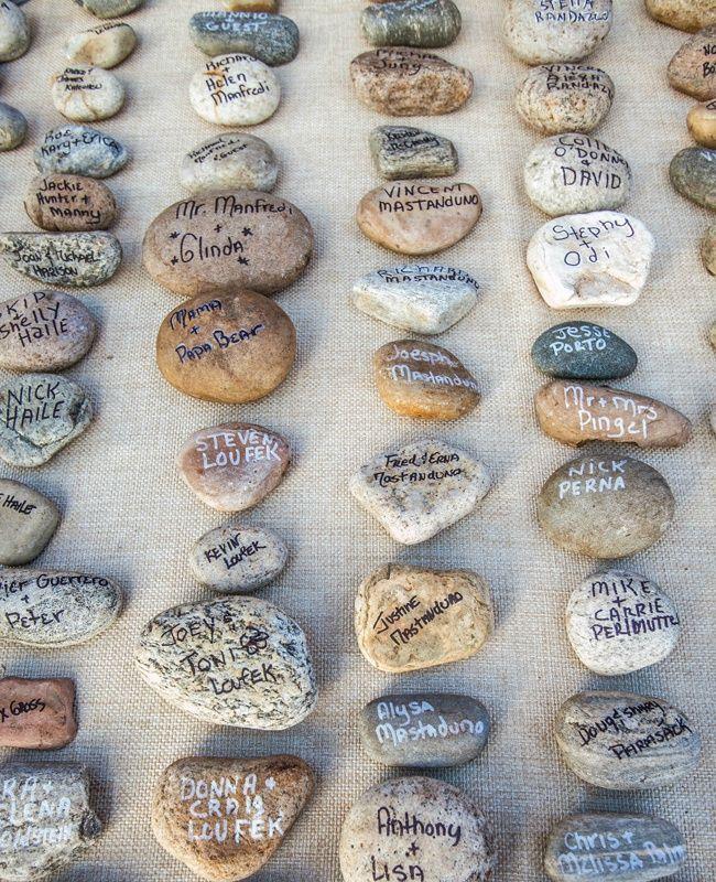 Idée DIY marque place avec des galets | Finistère Bretagne | #myfinistere #mariage