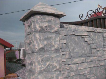 Придаем бетонному забору декоративный вид  #бетонный_забор #покраска_забора