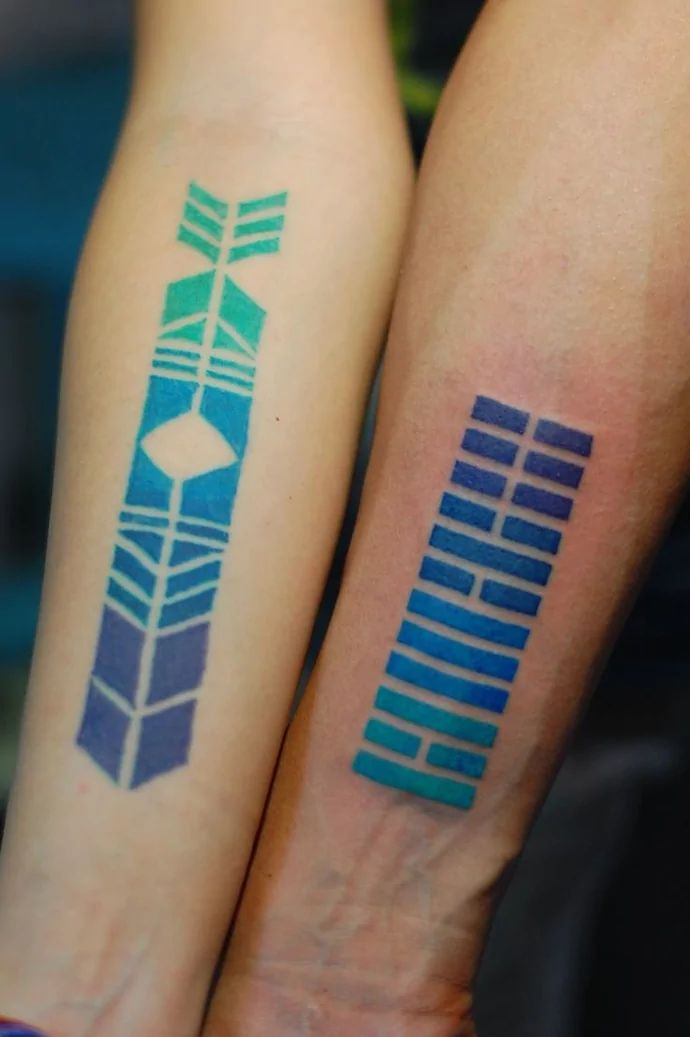 20 Original Blue Ink Tattoos | Tattoodo