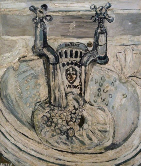 John Bratby. One of the 'Kitchen Sink' artists, so called for their famous depictions of post war domestic life and interiors.: