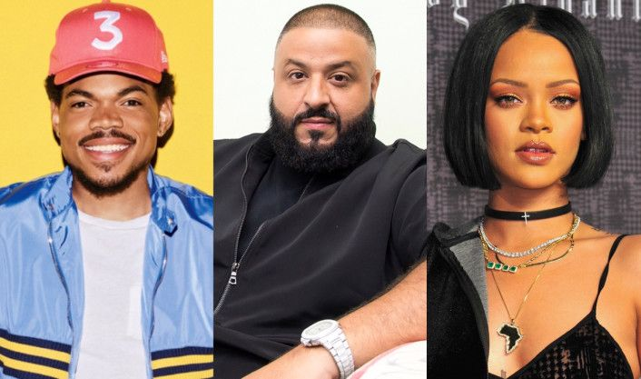 DJ Khaled Drops Star-Studded New Album 'Grateful' Ft. Chance The Rapper, Travis Scott, Nas & Many More  DJ Khaled  somehow has always managed to get some of the most star-studded trackless on his albums and his new one is no different. His new album   Gratefu  l is out now and has an insane list of features including Chance The Rapper, Travis Scott, Nas, Future, JAY Z, Beyonce, Drake, Rihanna, Bryson Tiller, Quavo, Justin Bieber, Lil Wayne, Big Sean, Rick Ross, Nicki Minaj, Kodak Bla..
