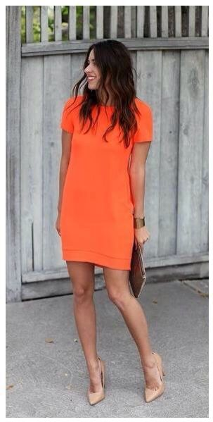 #orange dress