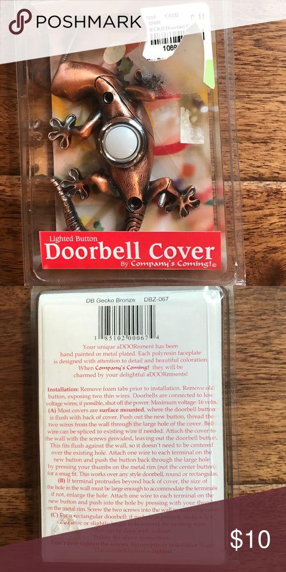Gecko bronze lighted doorbell cover Cute gecko bronze lighted doorbell cover Other