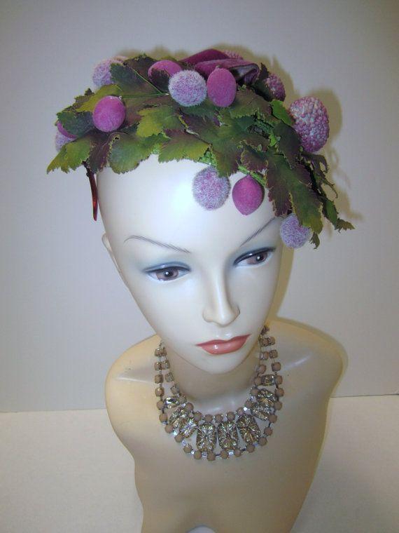 Rare Whimsy 1950 Fruity Fascinator Hat By Vintageweartreasures 125 00