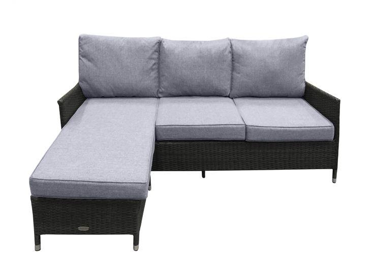 MAINE 3-sits Divansoffa Svart/Grå i gruppen Utomhus / Soffor hos Furniturebox (100-44-112221)