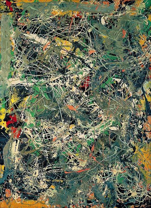 Actionpainting. JACKSON POLLOCK http://www.widewalls.ch/artist/jackson-pollock/ #drip #painting #surrealism
