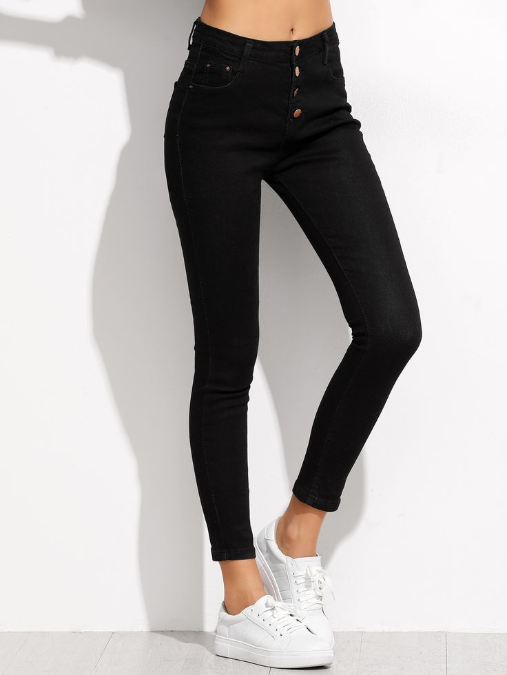 Shop Black Single Breasted Skinny Ankle Jeans online. SheIn offers Black Single Breasted Skinny Ankle Jeans & more to fit your fashionable needs.