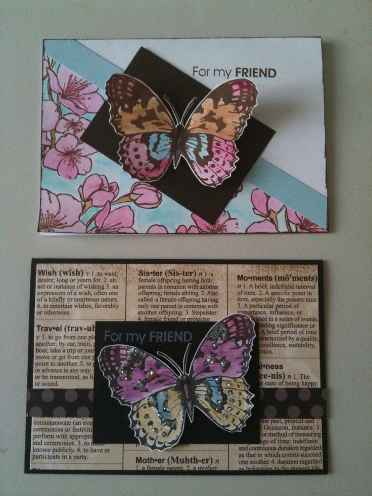 Kaszazz Card Making Ideas Part - 35: Butterfly Cards