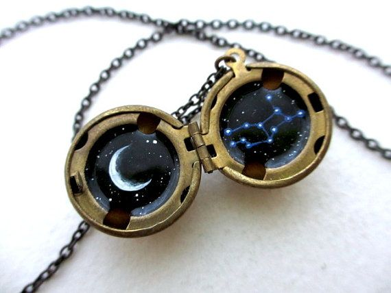 Virgo Constellation Locket  Personalized Jewelry  by kharaledonne, $40.00