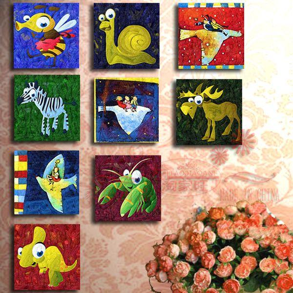 Pas Cher Dessin Anim Enfant R El Cadre Photo Peinture D Corative Maison Moderne Peintures