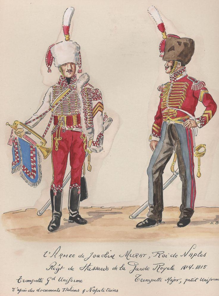 Tromba e tromba maggiore del rgt. ussari della guardia reale del regno di Murat