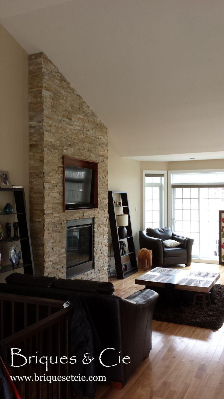 Realstone System, stone, fireplace, pierre naturelle, foyer, revêtement mural