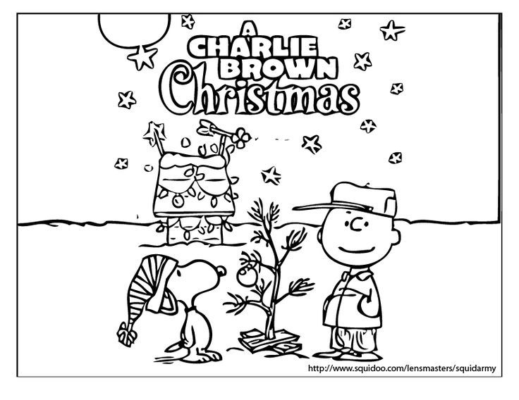 Charlie Brown Christmas Coloring Pages 1