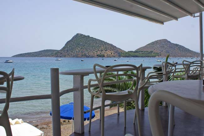 Breakfast at Nelly's in #Tolo, #Greece. A seaside hotel/cafe right on the sand of Psili Ammos beach in Tolo.