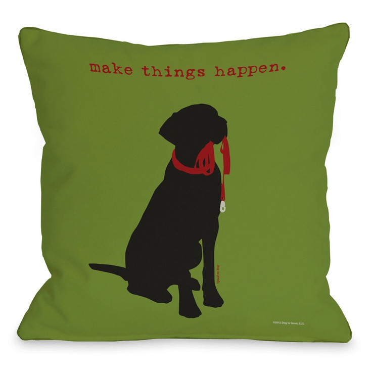 Amazon.com: Bentin Pet Decor Make Things Happen Throw Pillow, 16 by 16-Inch: