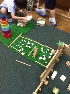 Encouraging imaginative play using construction and small world resources