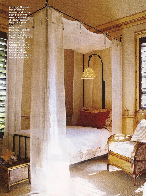 loose linen bed canopy