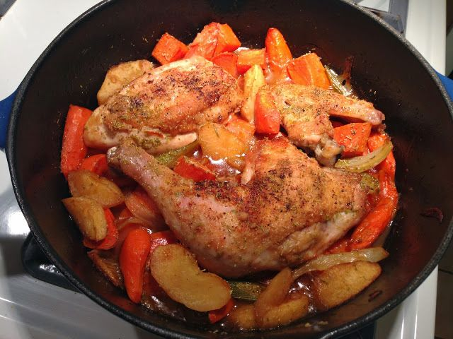 - Chicken braised with carrots, onion, fennel, apple and sweet ...
