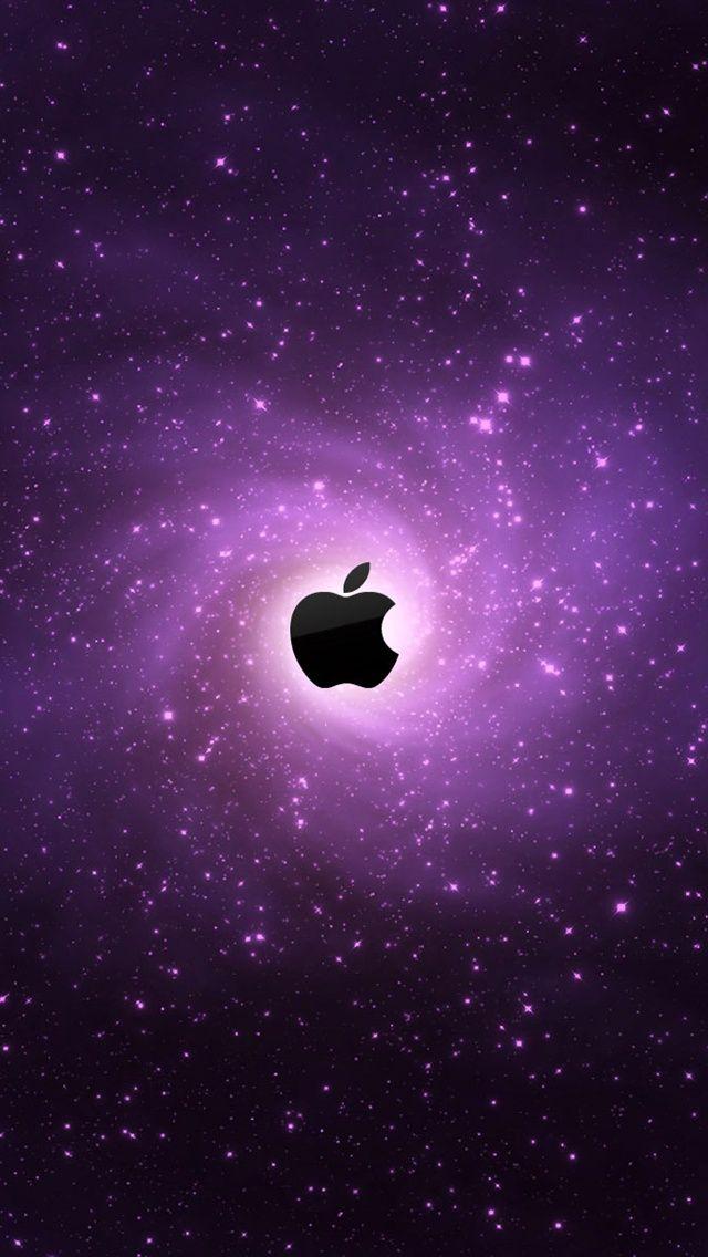 Purple galaxies Apple iPhone 5 (5S) (5C) wallpaper - 640x1136