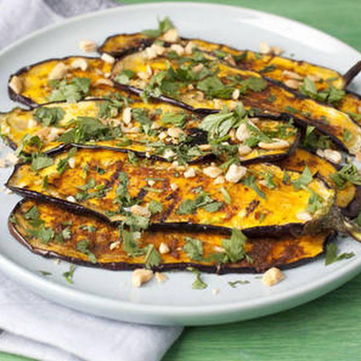 Indiaas Gekruide Aubergine Recipe Bijgerechten with aubergine, currypassta, katoembar