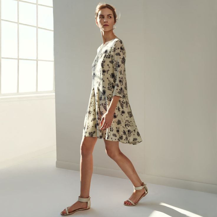Murilla Silk Print Dress - Day to Night The Dress Shop at Club Monaco