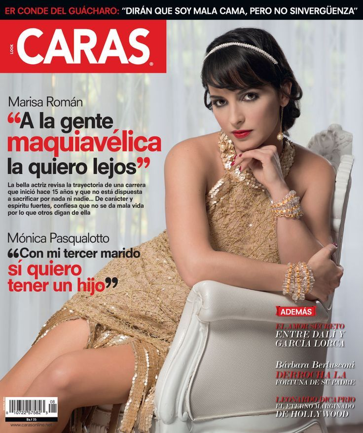 Busca ya la @Revista CARAS Venezuela, y disfruta de la entrevista a Marisa Román con #Accesorios de Eleazar Molina Joyas... #CarasAgosto.