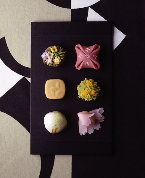 Japanese traditional sweets. We put seasonal images into these.