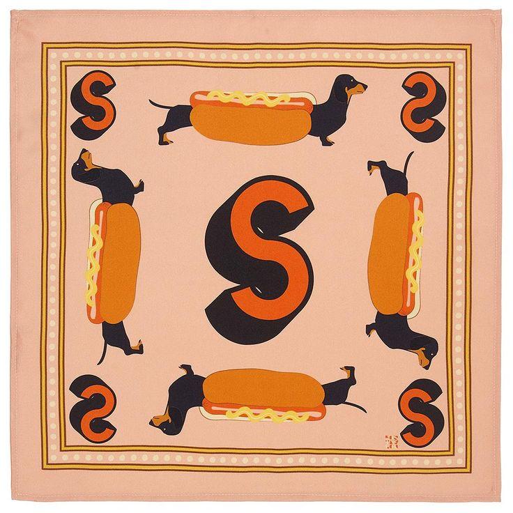 'S' silk pocket square