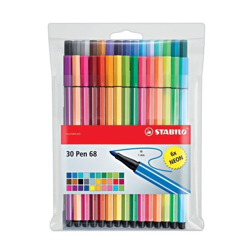 Pochette 30 feutres Pen 68- Stabilo - Beaux Arts De 20 à 40€