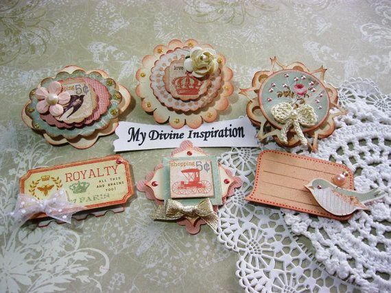Songbird Scrapbook Embellishments, Paper Embellishments, Paper Flowers for Scrapbooking Layouts, Cards, Mini Albums Paper Crafts