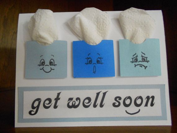 Too Cute!: Cute Cards, Cards Ideas, Get Well Soon Cards, Cute Ideas, Cards Get Well, Tissue Boxes, Greeting Cards, Get Well Cards, Diy Cards