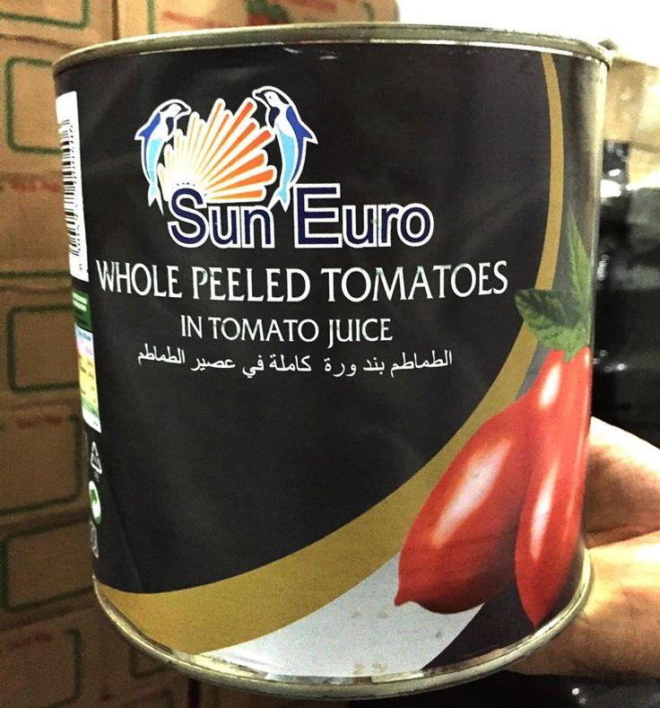 """Introducing #Italian Peeled #Tomatoes to our existing """"Sun Euro"""" #Horeca Brand in #Dubai, #UAE."""