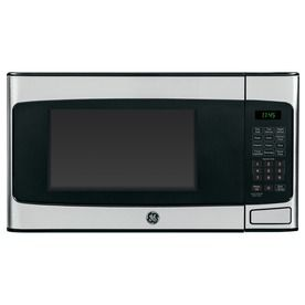 $106  Best buy $119  Lowes sale   GE 1.1-cu ft 950-Watt Countertop Microwave (Stainless Steel)Height (Inches)12 Width (Inches)20.3125 Depth (Inches)15.625
