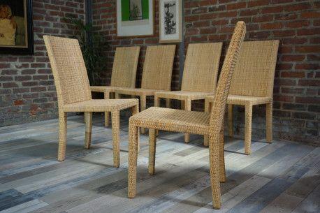 Chaises Ecart International JM Franck vintage #chair #rattan #design #artdeco #designfurniture #vintagefurniture #vintage