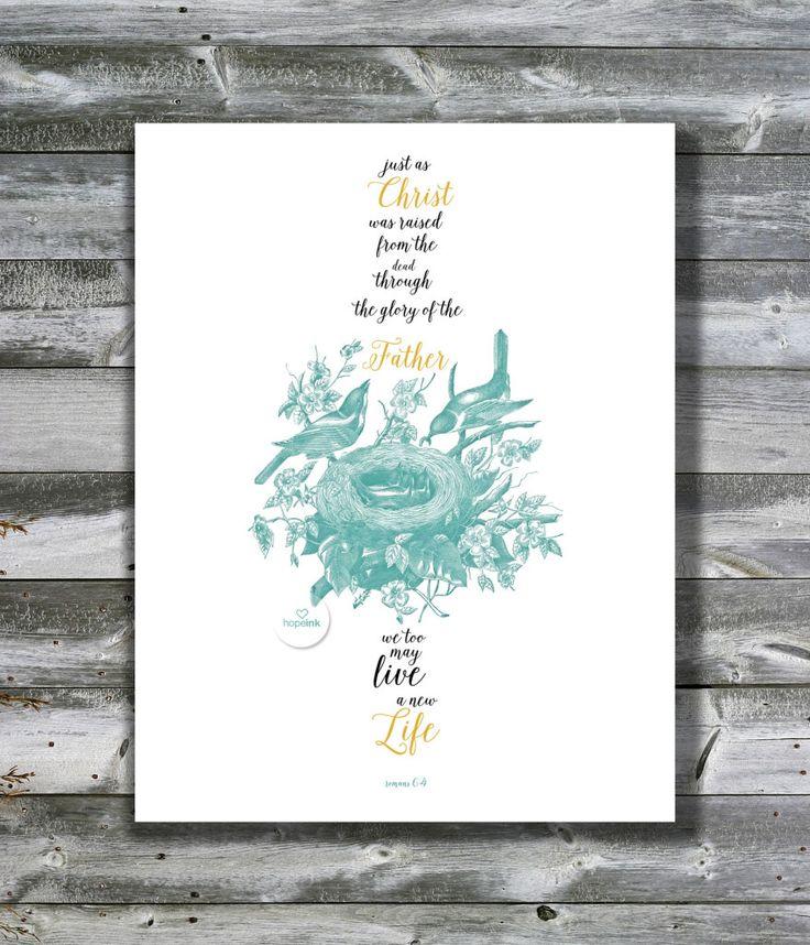 Free Easter Scripture Art Printable