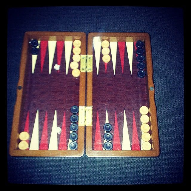 """""""...försten te tre !!!"""" #backgammon"""