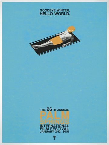 Destination PSP - 2015 Palm Springs International Film Festival Poster - Male