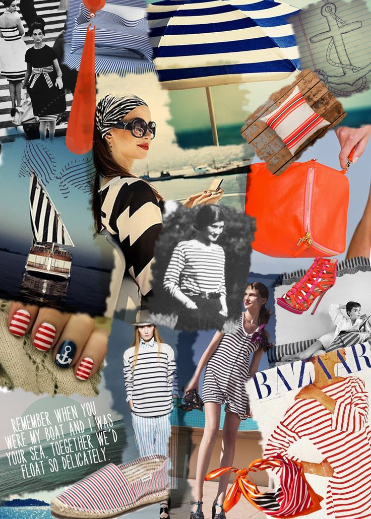 P.S.- I made this... Striped Market Bag   #DIY #INSPIRATION #PSIMADETHISFashion Ideas, Stripes Marketing, Mood Boards, Marketing Bags, Diy Clothing, Nautical Fashion, Summer Clothes, Summer Trends, Nautical Nails