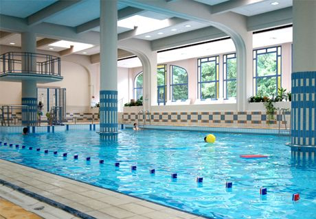 Indoor swimming pool at Vittel Club Med