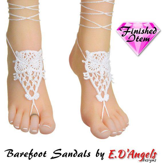 Barefoot sandalen | strand bruiloft | UIL | Wit