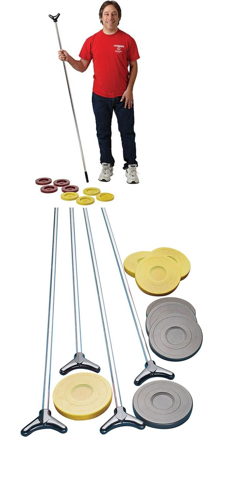 Shuffleboard 79777: Outdoor Shuffleboard Pucks Aluminum Cue Set Indoor Portable Durable Court Sports -> BUY IT NOW ONLY: $78.97 on eBay!