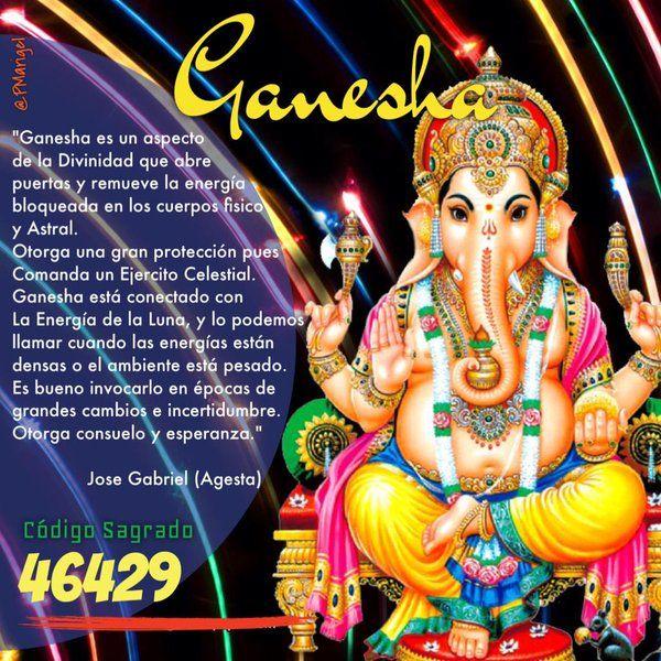 """Códigos Sagrados on Twitter: """"Ganesha es un aspecto de La ..."""
