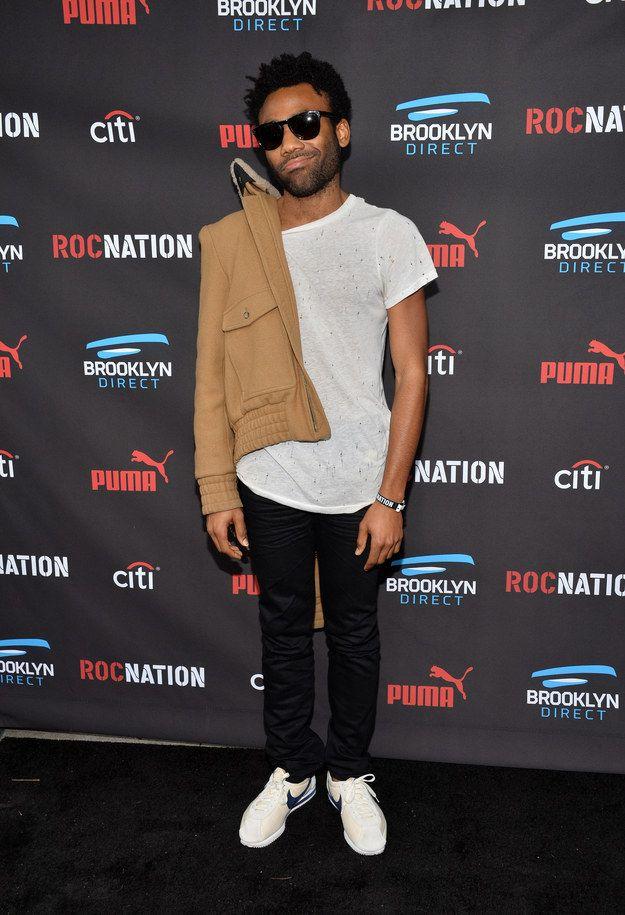 Like how he's a little too cool to put his jacket on completely. | Attention: Donald Glover Has Been Looking Super Fine In 2015
