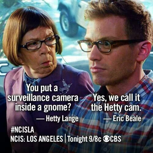 NCIS: Los Angeles actually laughed so hard at this while watching the show! :)